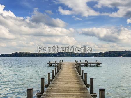 lake woerthsee in bavaria