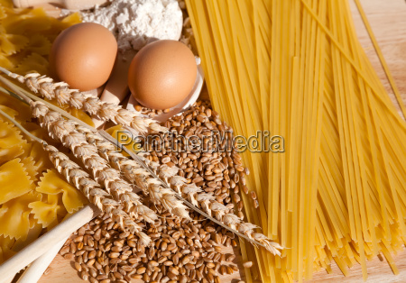 healthy food pasta from the solid