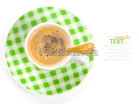 kaffee tasse auf weissem hintergrund