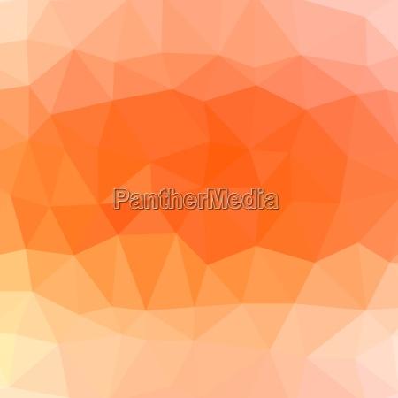 mosaic orange background abstract polygonal orange