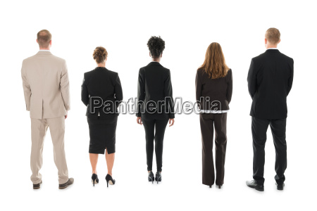 business team standing against white background