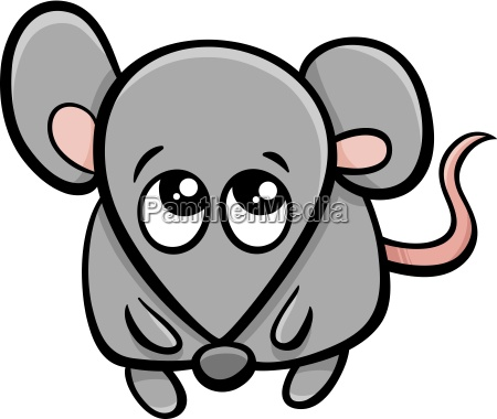 cute mouse cartoon character