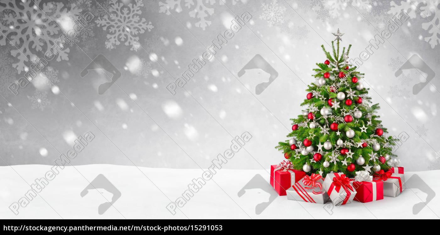 weihnachtsbaum und schnee hintergrund lizenzfreies bild. Black Bedroom Furniture Sets. Home Design Ideas