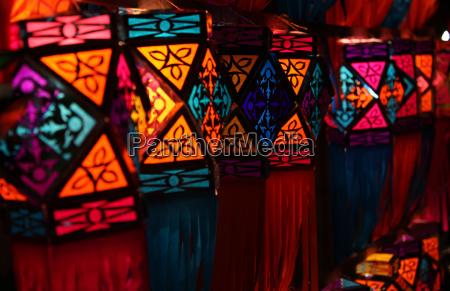 colorful diwali lanterns