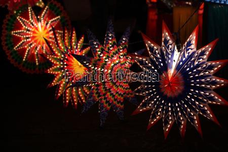 star shaped lanterns