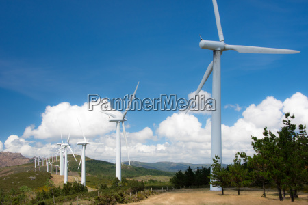 wind turbines for electricity generation in
