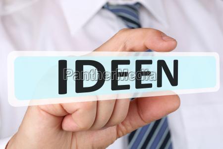 business man with idea concept idea