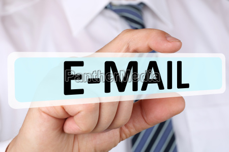 business man concept with email email