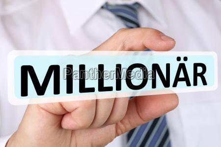 business man concept with millionaire rich