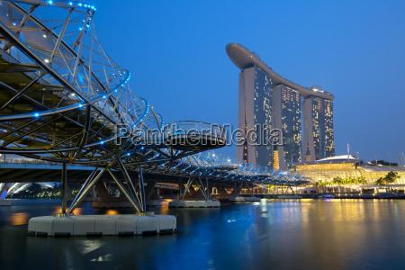singapur singapore marina bay city skyline