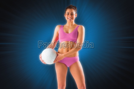composite image of fit girl in
