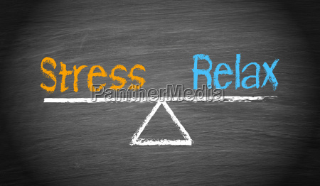 stress und relax balance concept