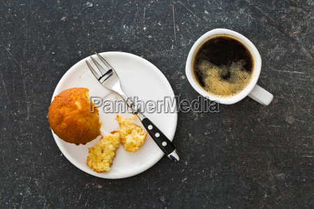 sweet muffin and coffee