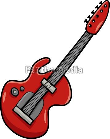 electric guitar cartoon clip art