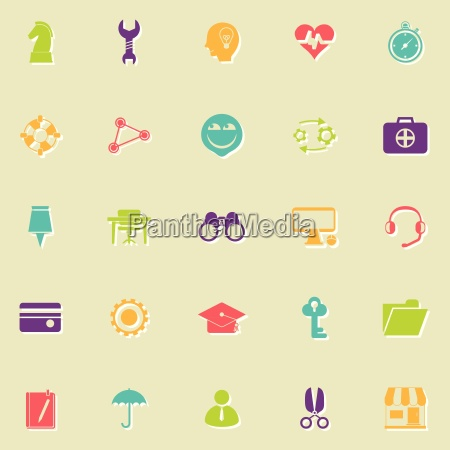 human resource flat icons with shadow