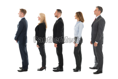 side view of business people standing