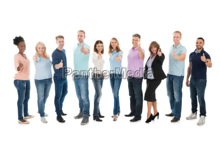 portrait of creative business people standing