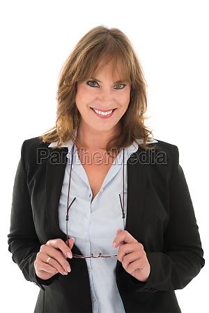 portrait of happy woman in casuals