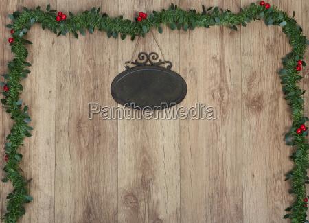 empty placard christmas
