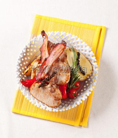 roasted pork chops with potato