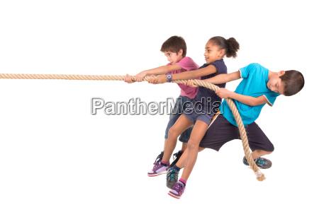 rope pulling
