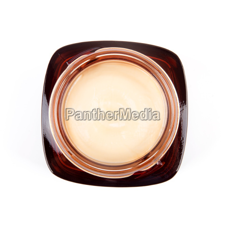 top view of cosmetic cream jar