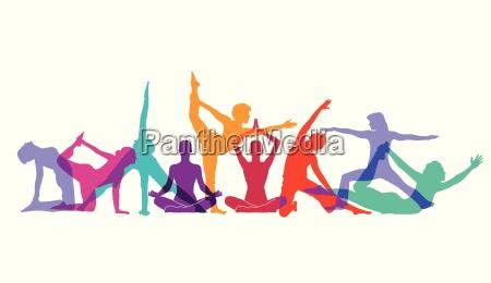yoga und gymnastik posen