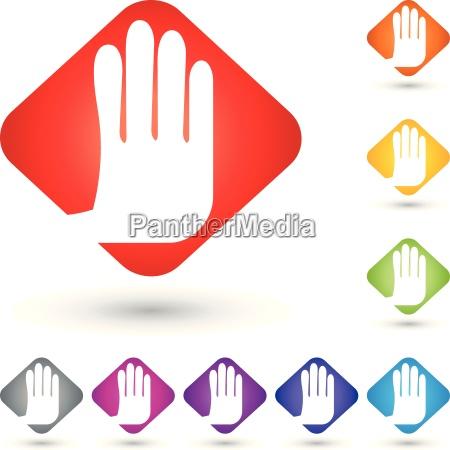 hand logo stopp