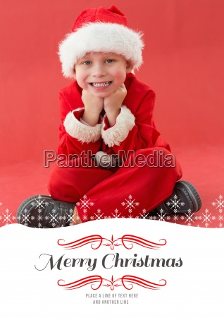 composite image of cute little boy