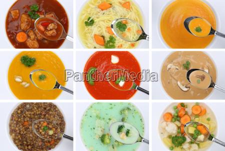 collage soup soups eat tomato soup