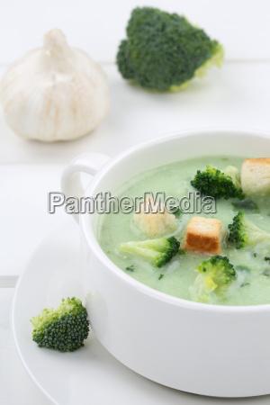 fresh broccoli soup broccoli soup in