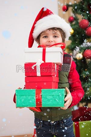 composite image of cute festive little