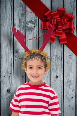 composite image of cute little boy