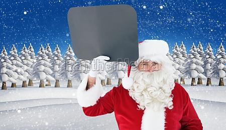 composite image of happy santa claus