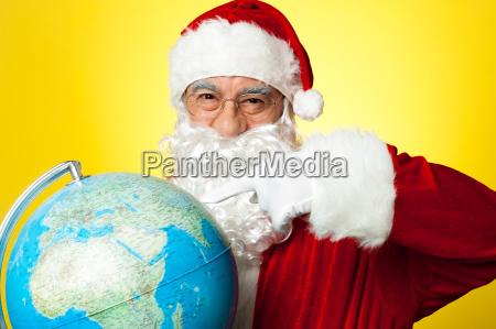 santa claus selecting location on