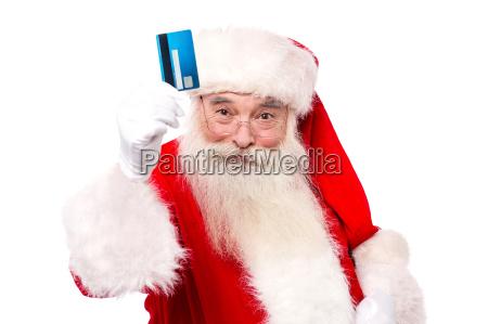 shop using credit card on christmas
