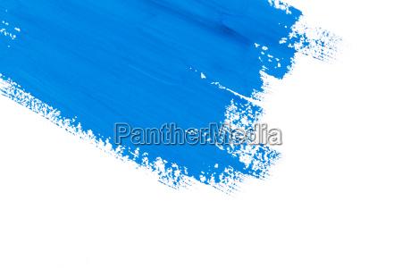 schlaganfall blau pinsel