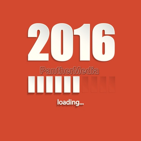 flat new year 2016 loading background