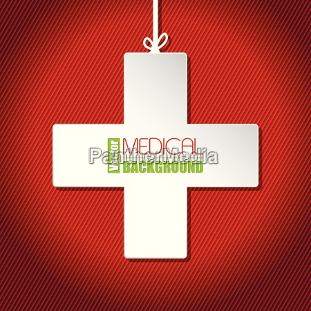 medical background with white cross