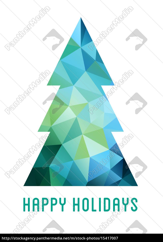 abstrakter, weihnachtsbaum, vektor - 15417007