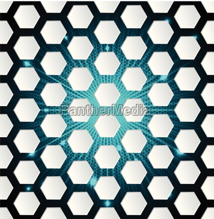 abstract hexagon background with 3d and