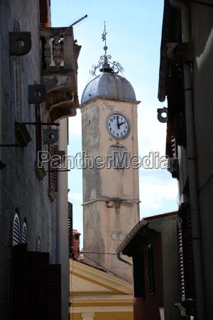 steeple of labin croatia
