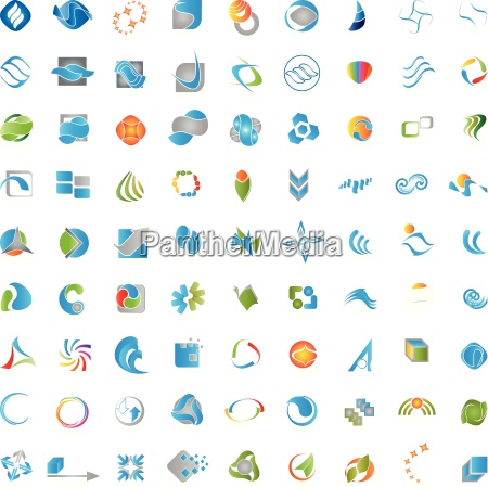 grosse logos sammlung kreative logo set