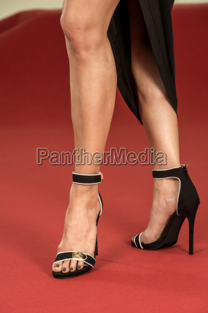 sexy legs in fancy high heels