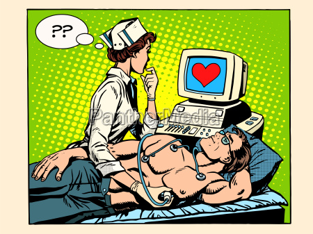 love heart nurse and patient