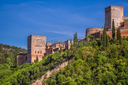 alten arabischen festung alhambra granada spanien