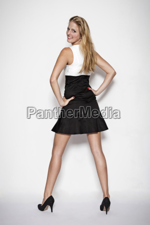 fashion shoot in a black and