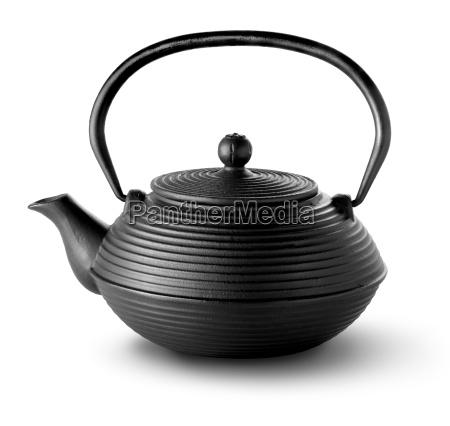 chinesische teekanne isoliert