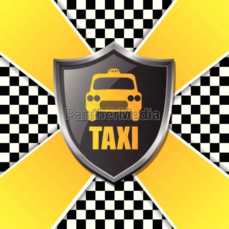 abstract taxi background design with shield