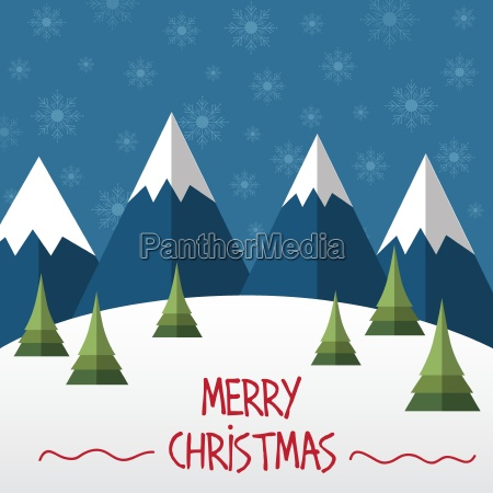 weihnachtskarte im flachen stil